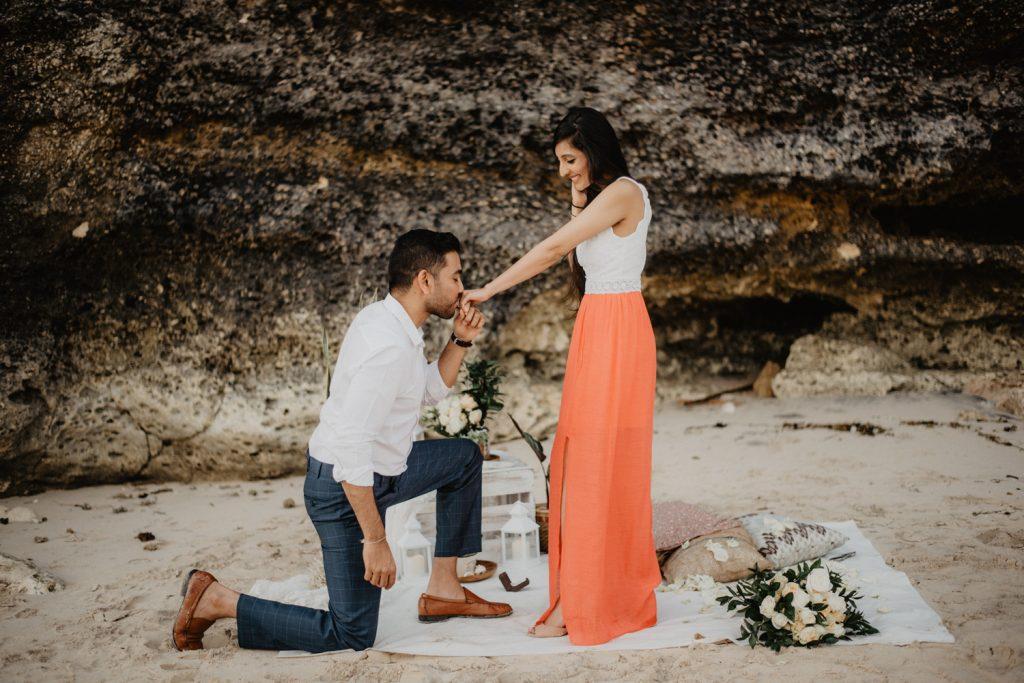 proposal surprise at beach